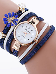 cheap -Women's Fashion Watch Bracelet Watch Quartz Fabric Band Charm Cool Casual Unique Creative Black White Blue Red Pink