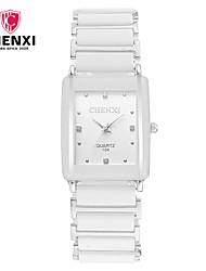CHENXI® Pánské Pro páry Hodinky k šatům Módní hodinky Náramkové hodinky japonština Křemenný Slitina Kapela Přívěsek Běžné nošení Luxusní