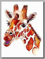 Недорогие -пение жирафа 100% ручная роспись современных картин маслом современное искусство настенного искусства для украшения комнаты