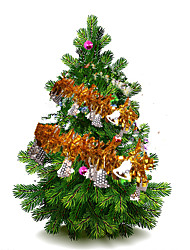 10Pcs/Set    2M Long  Colorful Bar Christmas Tree Omament Garland Decoration Party Supplies Wedding Holiday Decorations