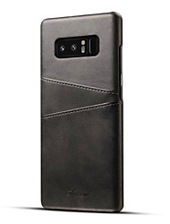 cheap -Case For Samsung Galaxy Note 8 Card Holder Back Cover Solid Color Hard PU Leather for Note 8