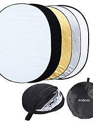 Andoer 35 * 47 / 90 * 120cm Oval 5 in 1 (Gold Silver White Black Translucent) Multi Portable Collapsible Studio Photo Photography Light Reflect
