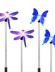cheap -4PCS  Solar White/Color-Changing Dragonfly Butterfly Garden Stake Light Pathway Walkway Lamp