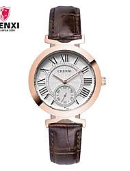 CHENXI® Dámské Hodinky k šatům Módní hodinky japonština Křemenný Kůže Kapela Přívěsek Cool Běžné nošení Luxusní Hnědá
