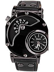 Oulm Pánské Módní hodinky Unikátní Creative hodinky Sportovní hodinky Hodinky k šatům Křemenný Kůže Kapela Na běžné nošení Cool Černá
