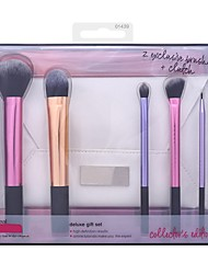 economico -5pcs Contour Brush Set di pennelli Pennello per cipria Pennello per ombretto Pennello applicatore per eyeliner Pennello da fondotinta