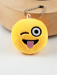 cheap -New Arrival Cute Emoji Playful Face Key Chain Plush Toy Gift Bag Pendant