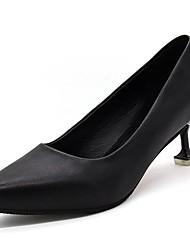 preiswerte -Damen Schuhe Wildleder PU Herbst Pumps High Heels Stöckelabsatz Spitze Zehe Für Normal Kleid Weiß Schwarz Grau Rot