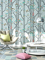 Print Wallpaper For Home Traditional/Classic Wall Covering , Non-woven paper Material Adhesive required Wallpaper , Room Wallcovering