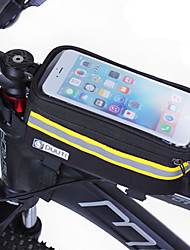 Bike Frame Bag Cell Phone Bag 4.8-5.7 inch Reflective Strip Windproof Breathability Touch Screen Cycling for Samsung Galaxy S6 Samsung