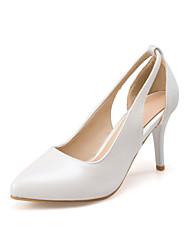 preiswerte -Damen Schuhe PU Frühling / Herbst Komfort / Neuheit High Heels Stöckelabsatz Spitze Zehe Weiß / Silber / Rosa / Kleid