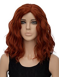 cheap -Women Synthetic Wig Capless Short Water Wave Orange Halloween Wig Costume Wig