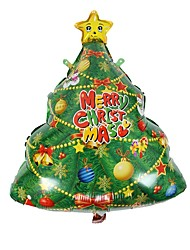 cheap -1Pcs Christmas Tree Decoration Christmas Party Balloon Aluminum Balloons