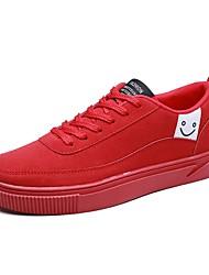 Da uomo Scarpe Cashmere Primavera Autunno Comoda Sneakers Lacci Per Casual Nero Grigio Rosso