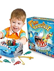 cheap -Fish Trouille Board Game Fishing Toys Tricky Toy Toys Shark Paternity Interactive Family Plastics Children's 1 Pieces