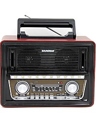 SM-1802 Radio portatil Reproductor MP3 Linterna Bluetooth Tarjeta SDWorld ReceiverNegro Dorado