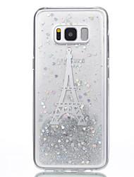 Недорогие -Кейс для Назначение SSamsung Galaxy S8 Plus S8 С узором Своими руками Кейс на заднюю панель Сияние и блеск Эйфелева башня Мягкий ТПУ для