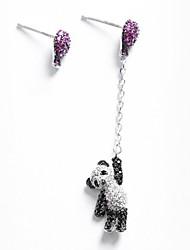 abordables -Femme Zircon cubique Argent sterling / Zircon Boucles d'oreille goujon / Boucles d'oreille goutte - Personnalisé / Mode Argent Forme