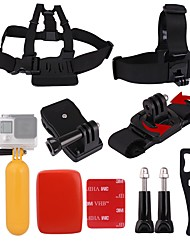 Andoer 8in1 Chest Strap Head Strap Floating Grip Floaty Buoy 360Rotating Wrist Strap 360 Rotary Backpack Hat Clip Plastic Wrench Tool Long Screw