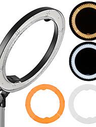 andoer rl-680b 18.9 / 48cm 55w dimmable 5500k Makro führte Video-Ring Licht Lampe 240pcs Perlen mit weißen orange Filter flexible