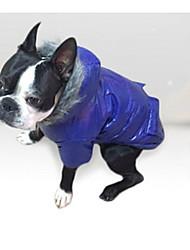 billige -Hund Frakker / Hættetrøjer / Dyne Jakker Hundetøj Ensfarvet Lilla / Blå / Lys pink Bomuld Kostume For kæledyr Afslappet / Hverdag