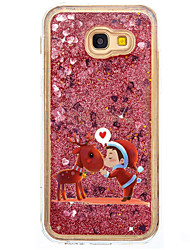 For Case Cover Flowing Liquid Pattern Back Cover Case Christmas Glitter Shine Hard PC for Samsung Galaxy A5(2017) A7(2017) A7(2016)