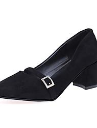 Недорогие -Для женщин Обувь Полиуретан Осень Удобная обувь Обувь на каблуках Блочная пятка Заостренный носок Назначение Повседневные Для праздника