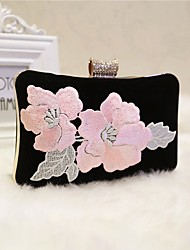 cheap -Women Bags Polyester Evening Bag Crystal Detailing Embroidery for Event/Party All Seasons Black Red