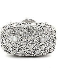 Women Evening Bag Metal All Seasons Casual Event/Party Wedding Minaudiere Metallic Crystal Handbag Clutch