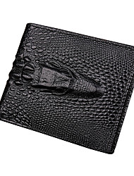 cheap -Men's Bags PU Coin Purse Ruffles Black / Dark Brown