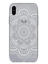 economico -Per iPhone X iPhone 8 Plus Custodie cover Fantasia/disegno Custodia posteriore Custodia Fiori Mandala La stampa in pizzo Morbido TPU per