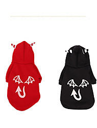 preiswerte -Hund Kostüme Mäntel Pullover Hundekleidung Kürbis Schwarz Rot Terylen Kostüm Für Haustiere Party Cosplay Weihnachten Halloween