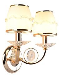 cheap -40 E14 Crystal Electroplate Feature for Crystal,Ambient Light Wall Sconces Wall Light