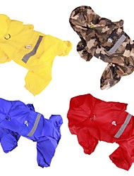 cheap -Dog Rain Coat Dog Clothes Casual/Daily Solid Yellow Red Blue Camouflage Color Costume For Pets