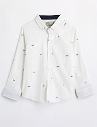 cheap -Boys' Print Shirt,Cotton Fall Long Sleeve White