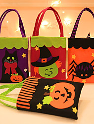 Halloween Pumpkin Witches Candy Bag Trick Or Treat Candy Gift Organizer Storage Pouch Festival Gift Handbag Hallowmas25*18cm