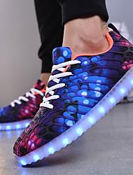 Da donna Scarpe A rete Autunno Inverno Scarpe luminose Scarpe Vulcanizzate Sneakers Lacci LED Per Casual Viola Verde Blu