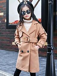 cheap -Girls' Solid Jacket & Coat,Cotton Nylon Spring Fall Long Sleeve Army Green Khaki