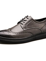 Homme Chaussures Polyuréthane Automne Hiver Confort Basket Marche Lacet Pour Décontracté Noir Gris