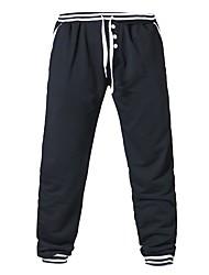 Da uomo A vita medio-alta Semplice Media elasticità Chino Pantaloni della tuta Pantaloni,Harém Tinta unita