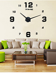cheap -Modern/Contemporary Casual Office/Business Garden Theme Wall Clock,Round EVA Stainless steel Indoor/Outdoor Indoor Clock