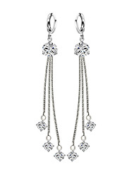 cheap -Women's Drop Earrings Imitation Diamond Tassel Elegant Silver Plated Line Irregular Jewelry For Party Engagement