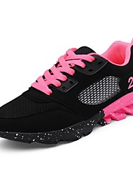 cheap -Women's Shoes Tulle Spring / Fall Comfort Athletic Shoes Walking Shoes Platform Lace-up Black / Pink