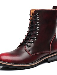 Masculino sapatos Pele Real Pele Outono Inverno Botas da Moda Botas de Moto Curta/Ankle Coturnos Botas Botas Curtas / Ankle Botas Cano