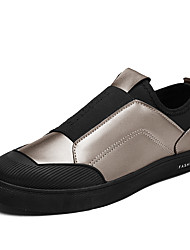 Men's Shoes Customized Materials Spring Fall Comfort Loafers & Slip-Ons Split Joint For Casual Office & Career Black White Gold