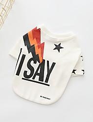 Chien Sweatshirt Vêtements pour Chien Décontracté / Quotidien Formes Géométriques Blanc Costume Pour les animaux domestiques