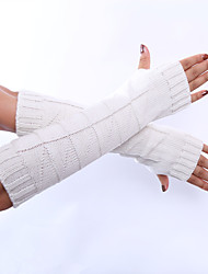 cheap -Women's Winter Gloves Elbow Length Half Finger - Solid