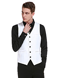 cheap -Men's Daily Simple Casual Winter Fall Vest,Solid V Neck Sleeveless Regular Cotton