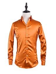 billige -Herre - Ensfarvet Gade Fest Skjorte