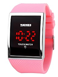 cheap -SKMEI  Hot Sale Promotion Fashion LED Watch for Ladies Digital Bracelet Wristwatches Women Touch Screen Electronic Watches